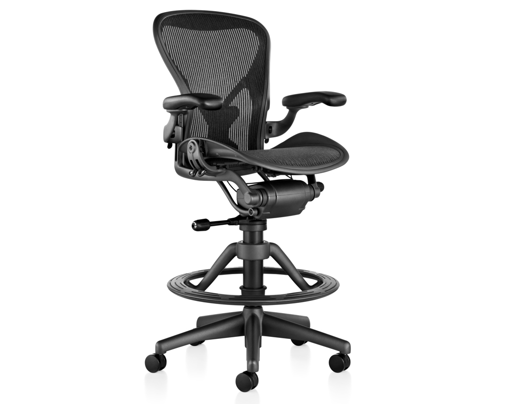 aeron stool  herman miller  all office - classic aeron stool