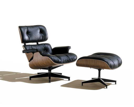 Eames Lounge Chair with Ottoman Black