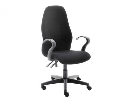 Ascot Office Chair | Highback Chair | Black Chair | With Arms