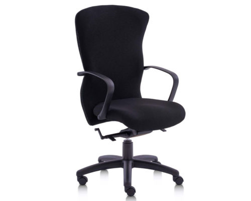 Pegasus Contract H/B Synchro Chair Black