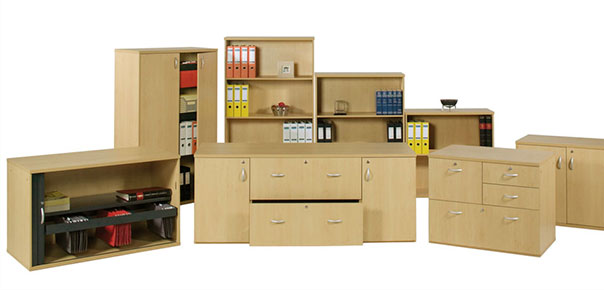 Brown Storage Cupboards