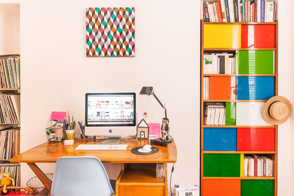 Add a touch of colour to your home office