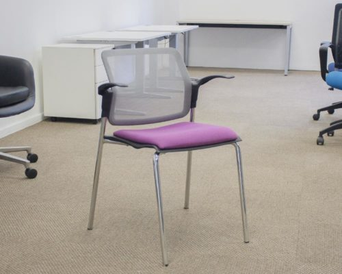 Arm-Chair-Purple-Seat-Front