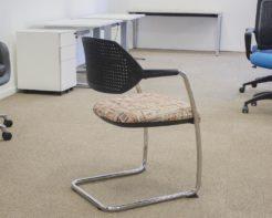 Arm-Chair-Sleigh-Base-Orange-Seat