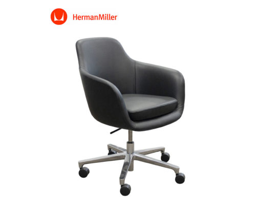 Geiger-Saiba-Chair-Black-Leather-Front-Herman-Miller