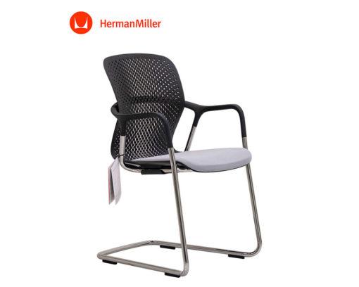 Herman-Miller-Keyn-Arm-Chair-Black-Back-Grey-Seat