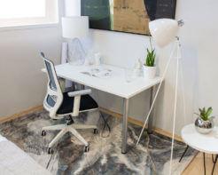 White Top Home Office Desk 1350mm