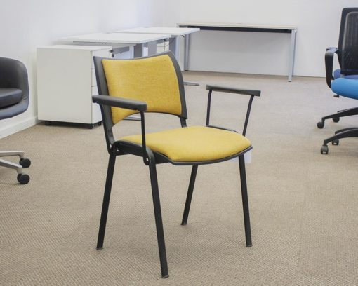 Iso-Arm-Chair-Yellow-Front