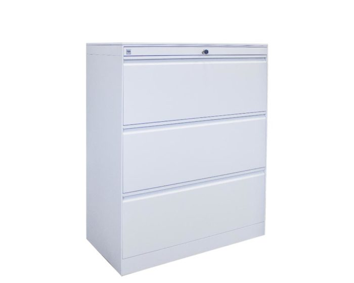 Posh-3-Drawer-Lateral-Cabinet-White
