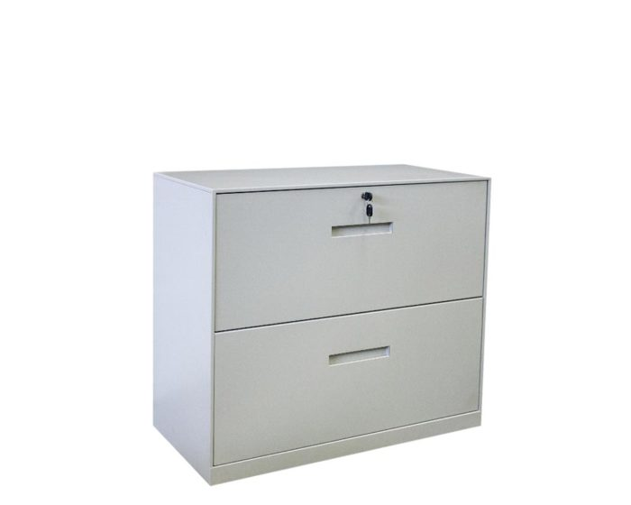 Solidline-2-Drawer-Lateral-Cabinet-Grey
