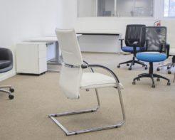 Tivoli-Arm-Chair-White-Bonded-Leather