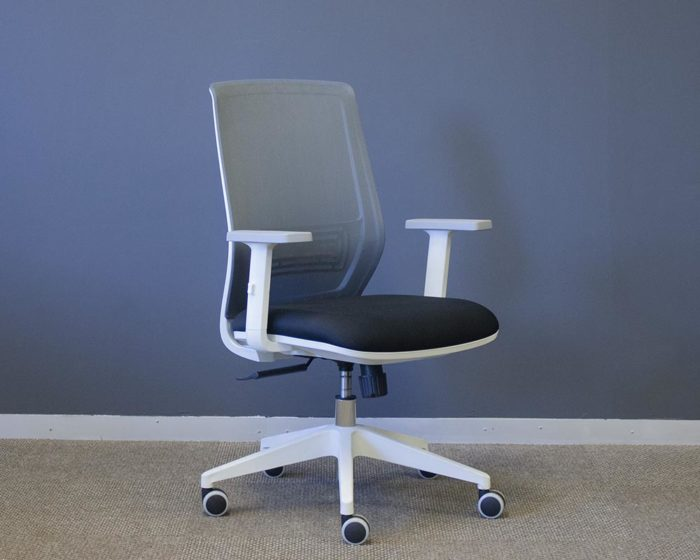 Adapt-Operators-Chair-White-Frame-Grey-Mesh-and-Black-Seat-Front