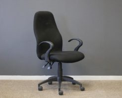 Ascot-HighBack-Chair-with-Arms-Black-Front