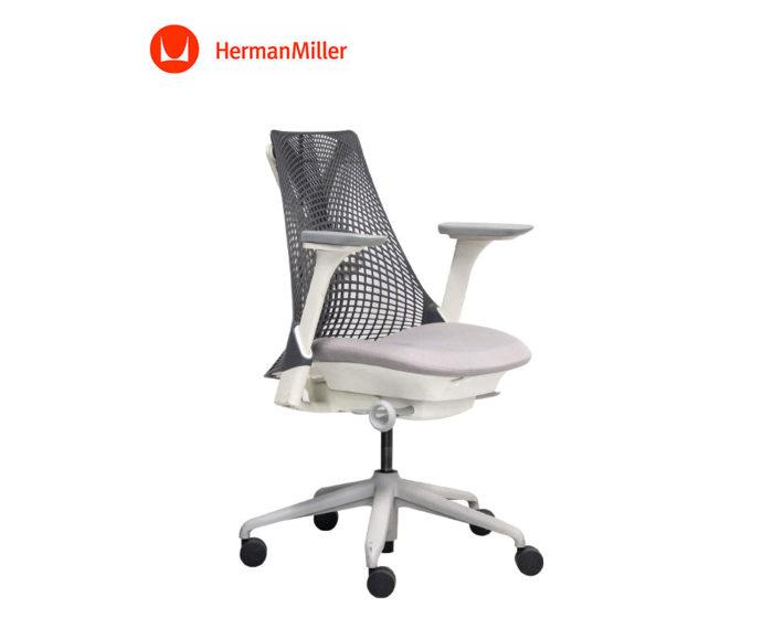 Herman-Miller-Sayl-Operators-Chair-Full-House-Grey-Back-Grey-Seat-Front