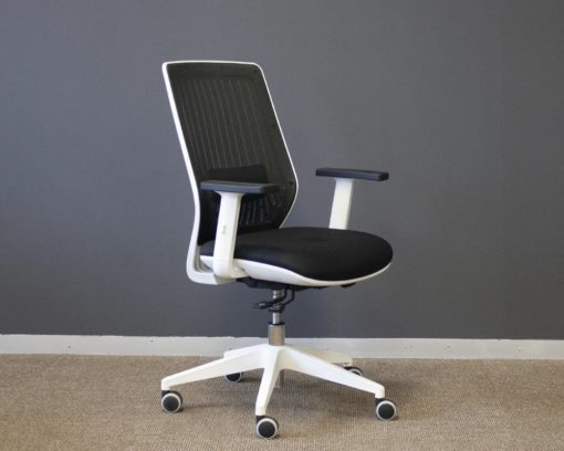 Motion-Operators-Chair-White-Frame-Black-Seat-Front