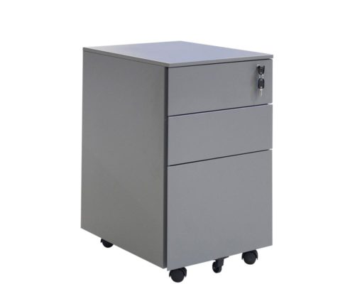 Solidline-Metal-2-Drawer-and-Filer-Mobile-Pedestal-Anthracite
