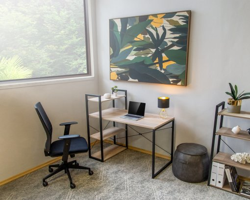 Studio Home Desk with Wall Unit   Home Office   Home Office Desk