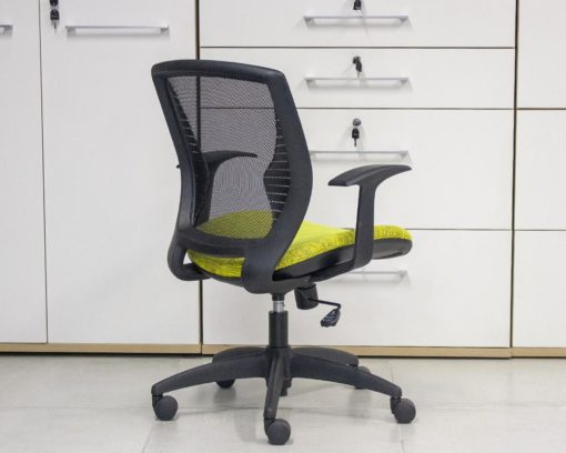 Wing-Chair-Black-Frame-Yellow-Seat