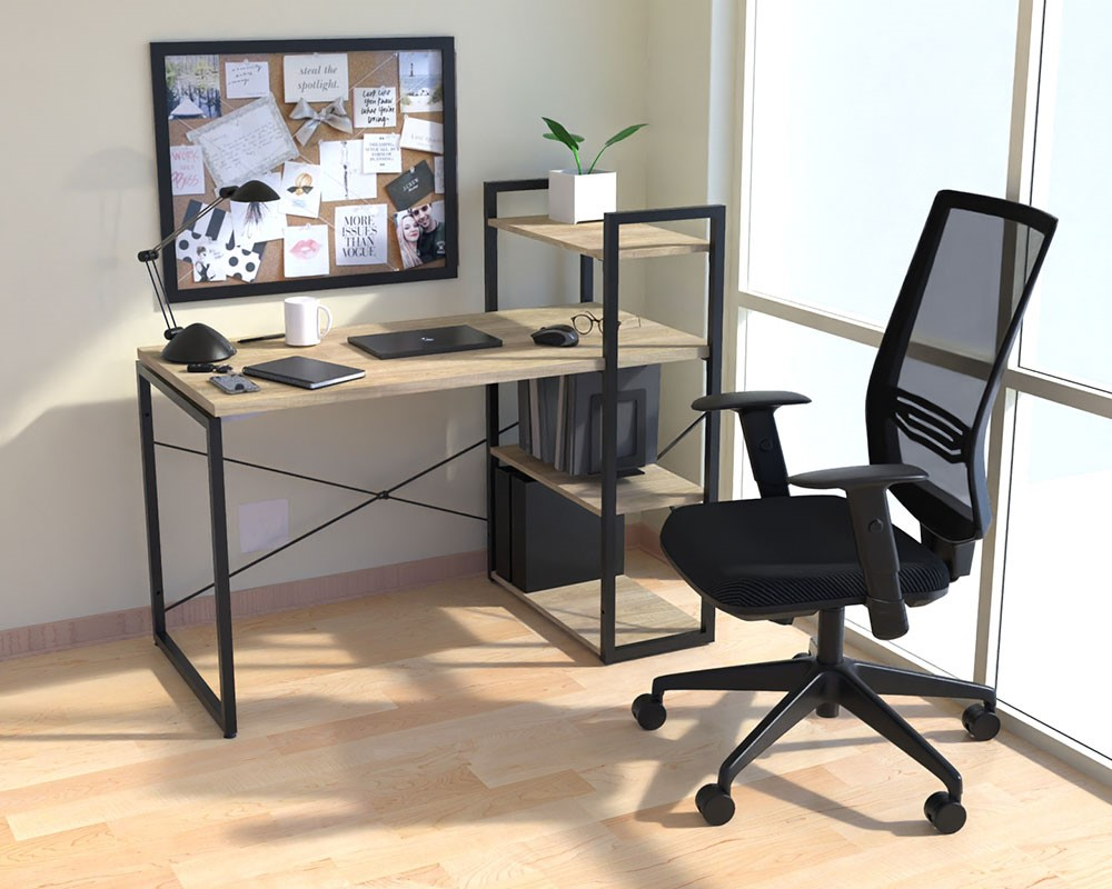 Studio Home Office Desk With Wall Unit