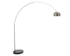 Eurolux FL101 Curva Adjustable Floor Lamp 445mm Satin Chrome