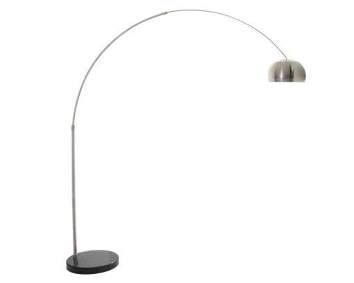 Eurolux FL101 Curva Adjustable Floor Lamp 445mm Satin Chrome