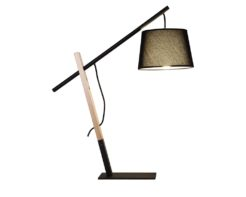 Eurolux T593B Bow Table Lamp 650mm Black