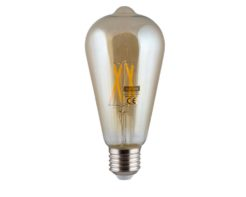 Eurolux G513ES Amber LED Filament Pear Nipple E27 4w