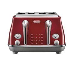DeLonghi Icona Capitals 4 Slice Toaster Tokyo Red