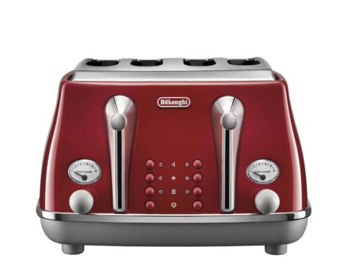 DeLonghi Icona Capitals 4 Slice Toaster Tokyo Red