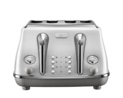 DeLonghi Icona Capitals 4 Slice Toaster Sidney White