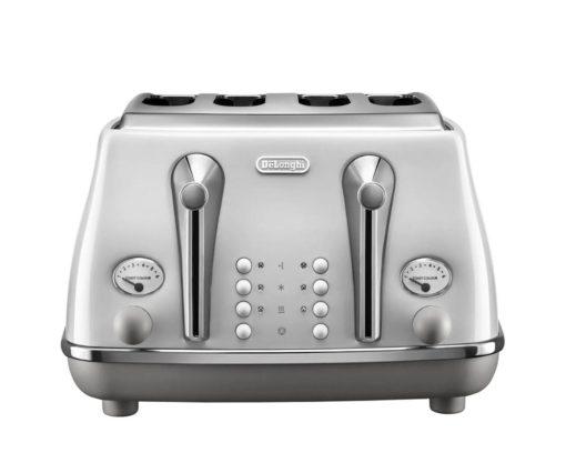 DeLonghi Icona Capitals 4 Slice Toaster Sidney White