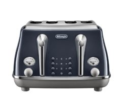 DeLonghi Icona Capitals 4 Slice Toaster - London Blue