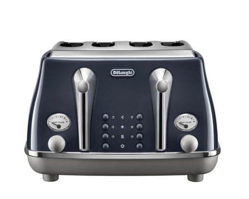 DeLonghi Icona Capitals 4 Slice Toaster - London Blue