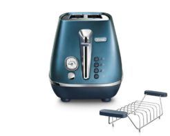 DeLonghi Distinta Flair 2 Slice Toaster Prestige Blue