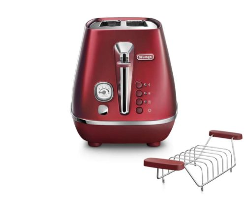 DeLonghi Distinta Flair 2 Slice Toaster Glamour Red