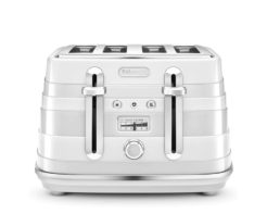 DeLonghi Avvolta Class 4 Slice Toaster Graceful White