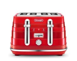 DeLonghi Avvolta Class 4 Slice Toaster Charming Red