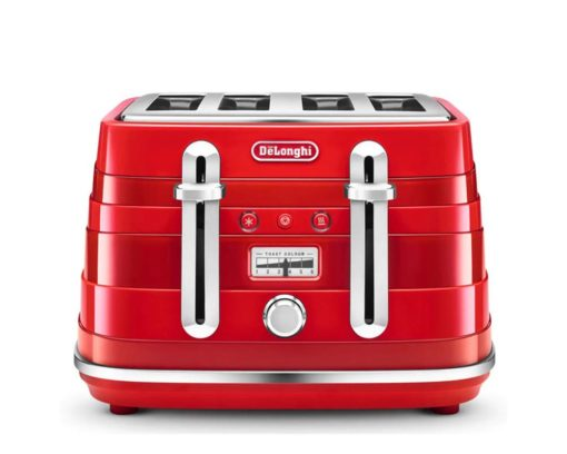 DeLonghi Avvolta Class 4 Slice Toaster Charming Red