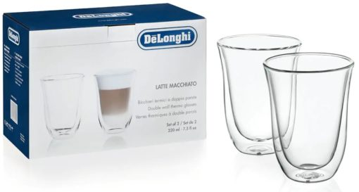 DeLonghi Double Walled Latte Macchiato Glasses