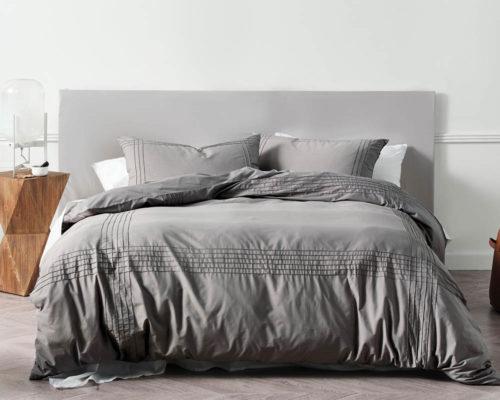 Linen House Mayfair Grey Duvet Cover Set