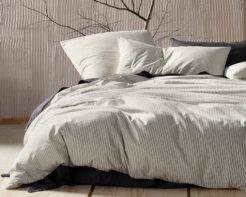 Linen House Duvet Cover Set Napier Black