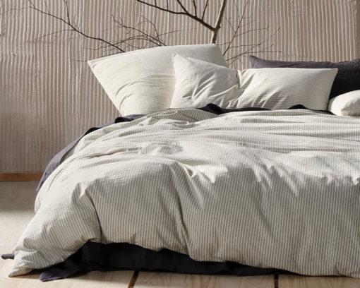 Linen House Duvet Cover Set Napier Black