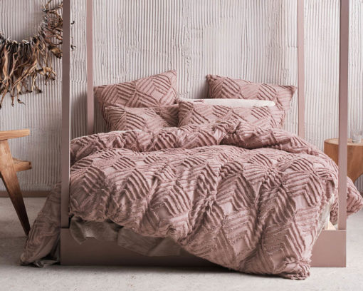 Linen House Ramona Blush Duvet Cover Set