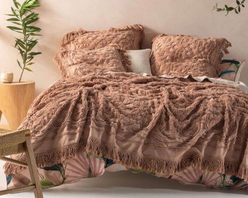 Linen House Bed Cover Somers Maple