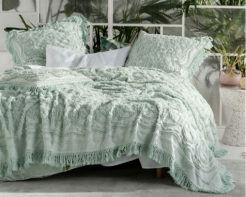 Linen House Bed Cover Somers Mint