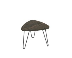 Loop Plectrum Coffee Table 480mm - Oak Monocoat Charcoal