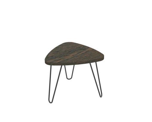 Loop Plectrum Coffee Table 480mm - Oak Monocoat Charcoal