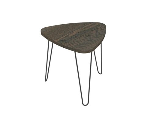 Loop Plectrum Coffee Table 580mm - Oak Monocoat Charcoal