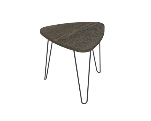 Loop Plectrum Coffee Table 580mm - Oak Monocoat Charcoal