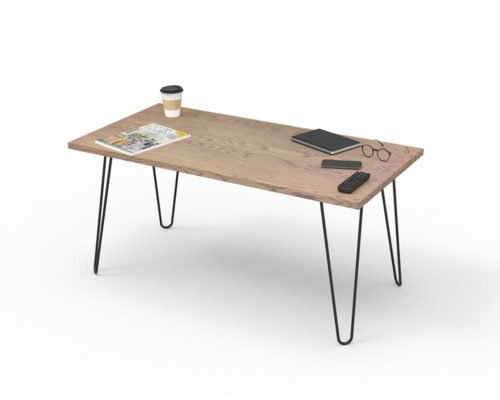 Loop Rectangular Coffee Table 1200x600mm - Oak Monocoat Slate Styled